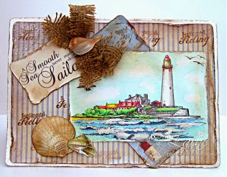 Dream Laine: Another Spectrum Noir Pencil Sample featuring Sea Scapes - Sheena Douglass