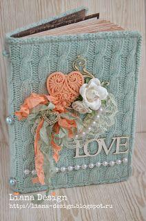 """Liana Design: Мой блокнот """"Коралл и Мята"""""""