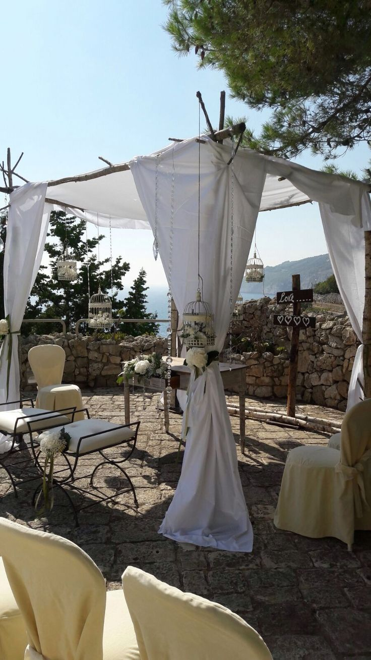Allestimenti esterni matrimonio civile presso Gibò Luxury Club & Weddings
