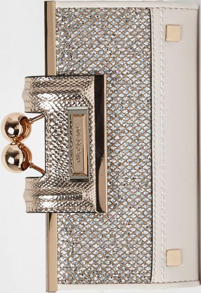 •Website: http://www.cuteandstylishbags.com/portfolio/river-island-gold-glitter-ball-clip-top-purse/ •Item: River Island Gold Glitter Ball Clip Top Purse