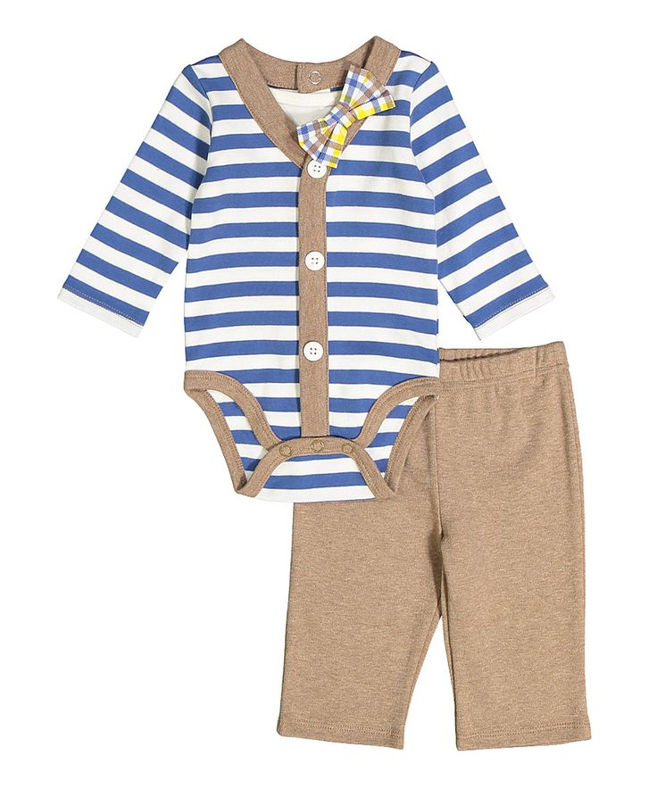 Look what I found on #zulily! Brown Playsuit Set - Infant by Vitamins Baby #zulilyfinds