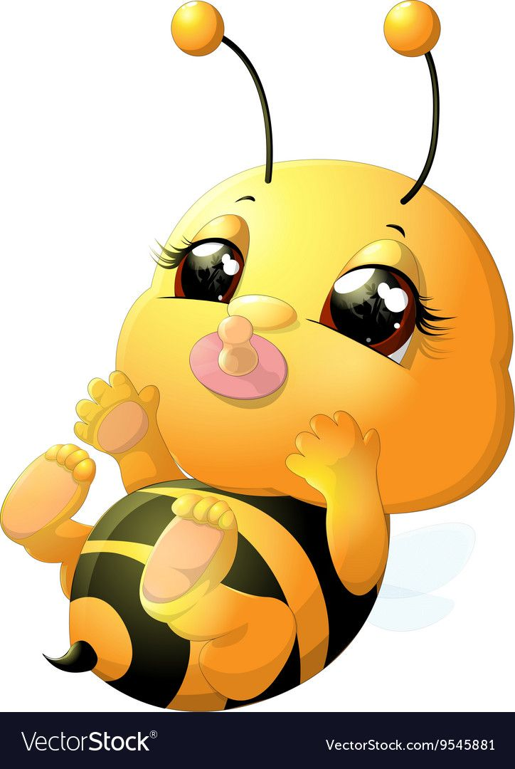 Funny Bee Painted On A White Background Download A Free Preview Or High Quality Adobe Illustrator Ai Eps Pdf And Cartoon Bee Bee Pictures Bumble Bee Cartoon