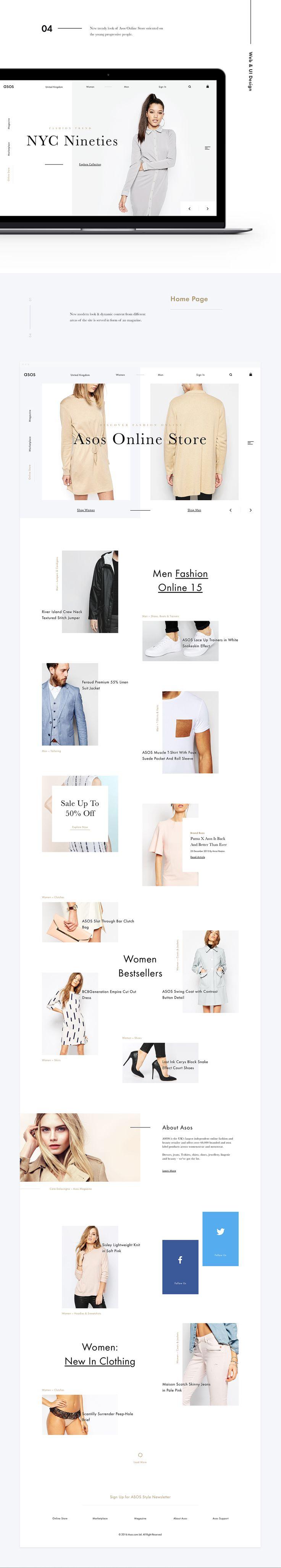 Asos. Redesign & Rethinking Concept on Web Design Served