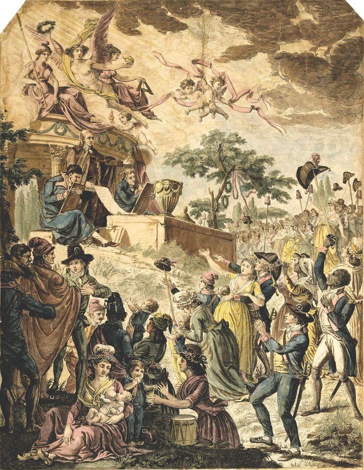 Réjouissances à l'annonce de l'abolition de l'esclavage. 30 pluviôse an II / 18 février 1794.