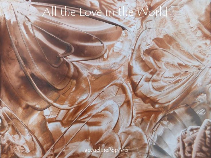 All the Love in the World, encaustic art by JacquelinePopArts  - Art with a Heart - Valentijn - Valentines Day