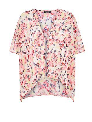 Kimono imprimé floral rose poudre - New Look. 14€99