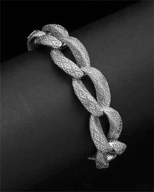 Scott Kay 'Faith' Silver Bracelet