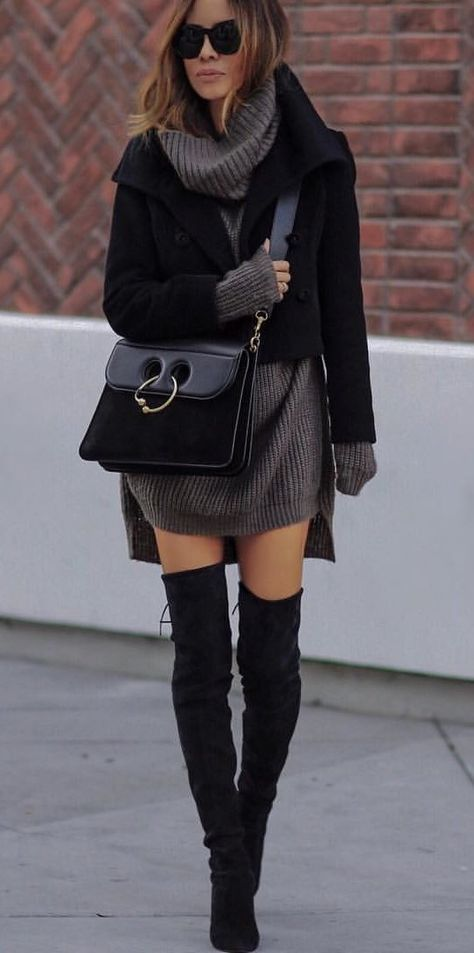 #winter #outfits black jacket #winteroutfits