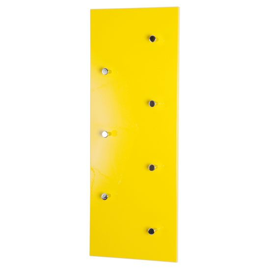 Hi-Gloss Yellow Wall Mounted Coat Rack, 42990