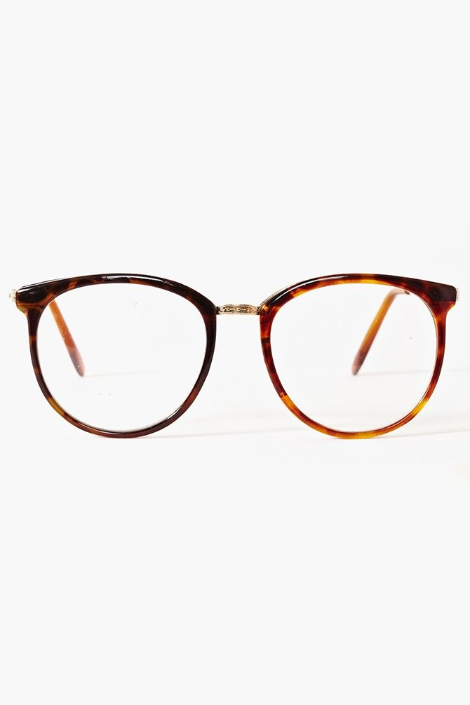 Nasty gal Ivy League Glasses Tortoise in Brown (gold) | Lyst