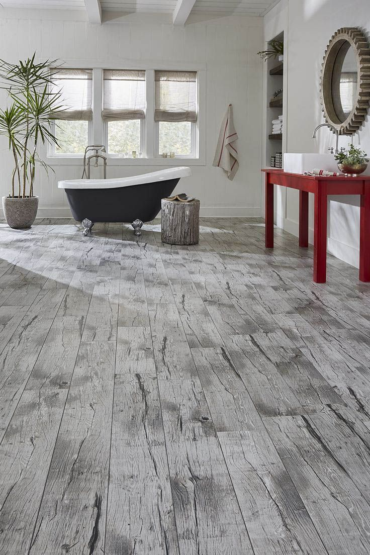 Super Creative bathroom laminate flooring waterproof home