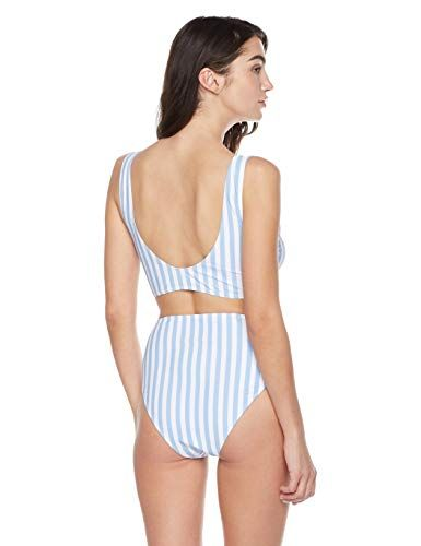 74abdcd92 Bloom Muse Women's High Waisted Swimsuit Two Piece Bathing Suit Knot Tie Bikini  Set Striped Swimwear,#Waisted, #Swimsuit, #Piece, #High