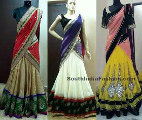 South India Fashion: Stunning Designer Half Sarees by Madhu Verma