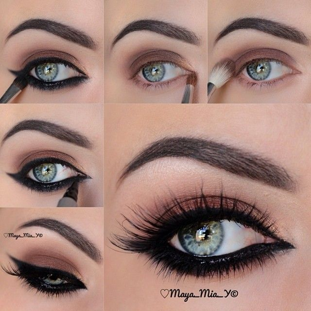 Pictorial   1.Apply Natural from The Beauty Weapon Palette by @motivescosmetics allover the lid  2.Apply gold on the tear duct  3.Line the waterline with Skinny smolder pencil by @tartecosmetics and smudge it with  intense from the palette  4.Draw a cat eye using Skinny eyeliner by @Eyeko  Lashes : Serena and Courtney by @flutterlashesinc  Brows: Dipbrow Ebony @anastasiabeverlyhills   Subscribe to my YouTube Channel 007 Maya Mia for video tutorials - @maya_mia_y- #webstagram