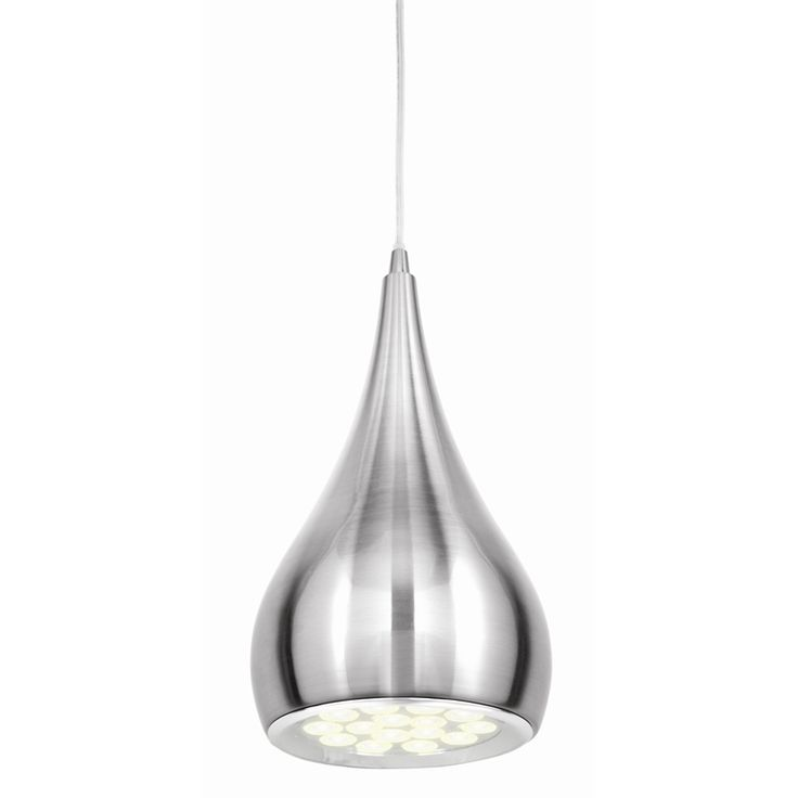 Brilliant brushed chrome clyde led pendant light 125 50