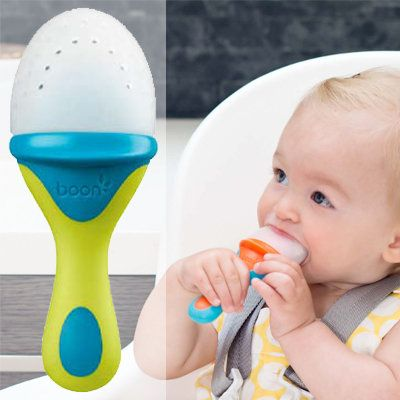 Baby feeders are a great idea, but they're not the neatest. Mesh feeders, which are designed to get baby's solid food small enough so that they won't choke on it, get dirty easily and are almost impossible to clean. Boon's new Pulp replaces the mesh with
