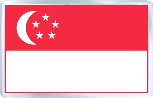 $3.29 - Acrylic Fridge Magnet: Singapore. Flag of Singapore