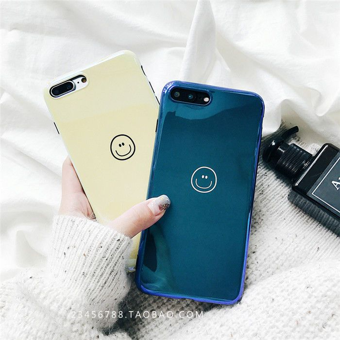 cdce864ac1c9c7 Gd G-Dragon Simple Smile Blue Light Shiny Soft Case Cover For Iphone X 6 7  7P 8