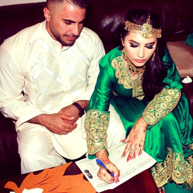 Afghan Wedding Gowns: #afghan #wedding #nekah #green #afghani #dress