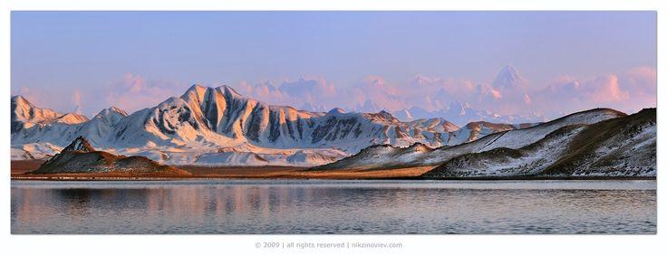 #казахстан #озеро #тузколь #пейзаж #закат #хан #тенгри #тянь #шань #горы Photographer: Николай Зиновьев