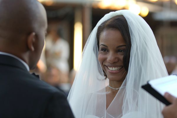 "The moment before I said ""I do"". So happy!"