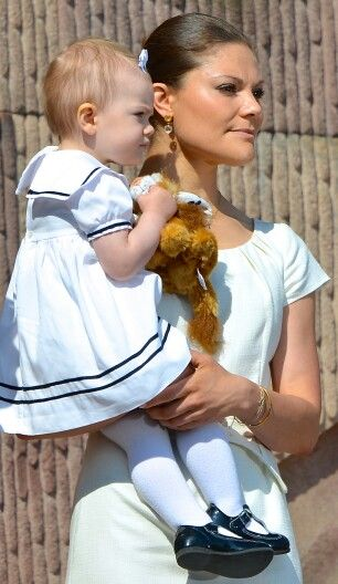 Crown Princess Victoria of Sweden with princess Estelle