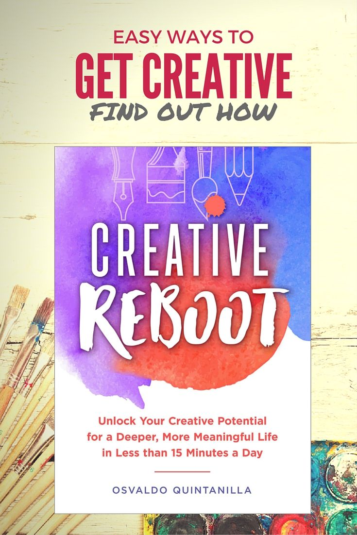 Creative Reboot is a book to help you find inspiration, motivation and practical tips for a more fulfilling life.