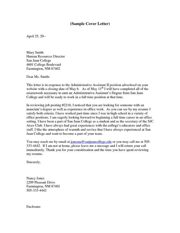 Administrative assistant resume cover letter httpwww