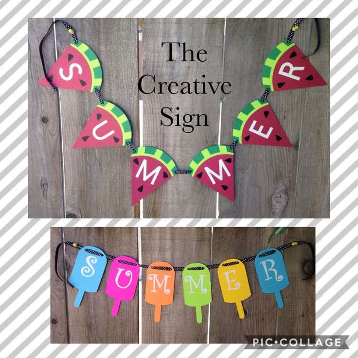 Summer, Banners, Watermelon Banner, Popsicle Banner, Summertime, Neon, Watermelon, Summer Banners, Card Stock, Party, Neon Popsicle by TheCreativeSign on Etsy