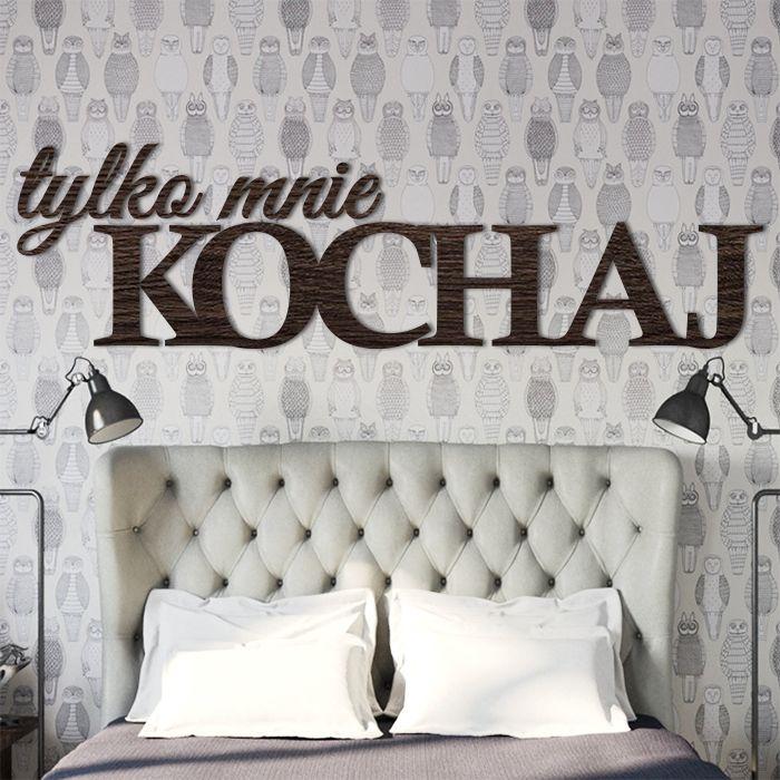 Napis na ścianę, już od 35zł ! #tylko #mnie #kochaj #napis #na #ścianę #3D #dekoracja #nowoczesna #modern #wall #design