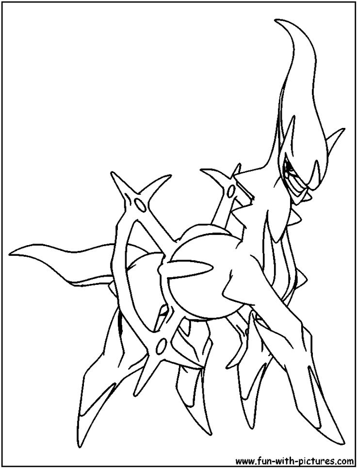 Arceus Coloring Page crafts for boys Coloring pages
