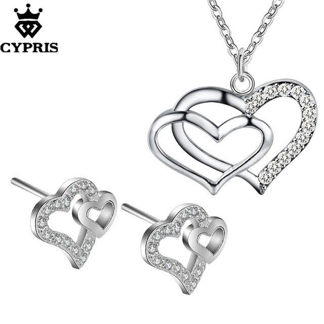 2016 CYPRIS оптовая торговля розничная торговля набор свадьба свадьбу ювелирные наборы мода серебряные украшения…