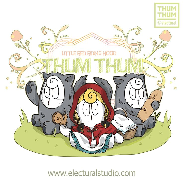 #ThumThum #Red riding hood #Red #Hood #ThumThum&Friends #charcter #illustration #drawing #Retro #design #Simple  #Art #ArtToys #kidult #cartoon #fun #lovely #cute  By. #electural