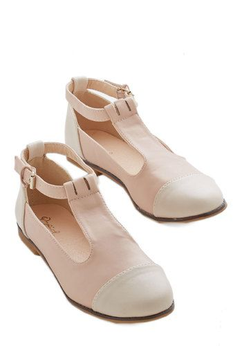 What's Bold is Neutral Flat - Flat, Faux Leather, Pink, White, Solid, Casual, Good, Colorblocking