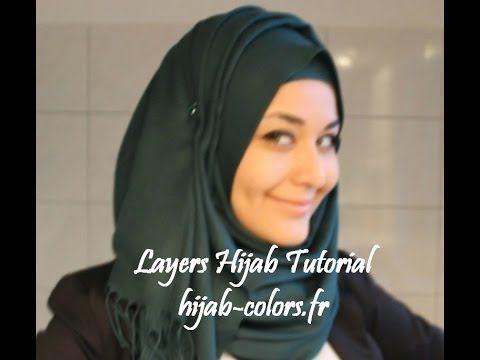 Layers Hijab Tutorial (hijab-colors.fr) - YouTube