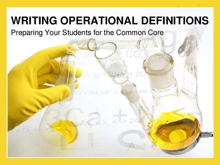 Writing operational definitions is a fundamental skill in scientific inquiry. It can also help your students to see the relationships between terms and concept…