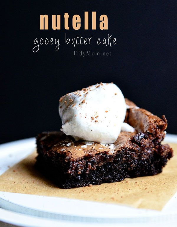 Nutella Gooey Butter Cake Recipe
