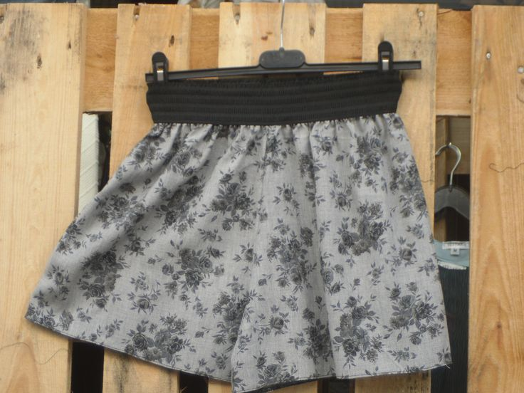 zip culotte shorts   100% Viscose Flannel
