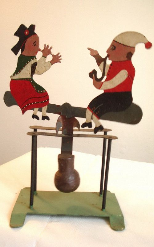 OLD antique LARGE CAST IRON painted BALANCE TOY FOLK ART PRIMITIVE Bavarian? Listing in the Other,Vintage & Antique,Toys & Hobbies Category on eBid Canada