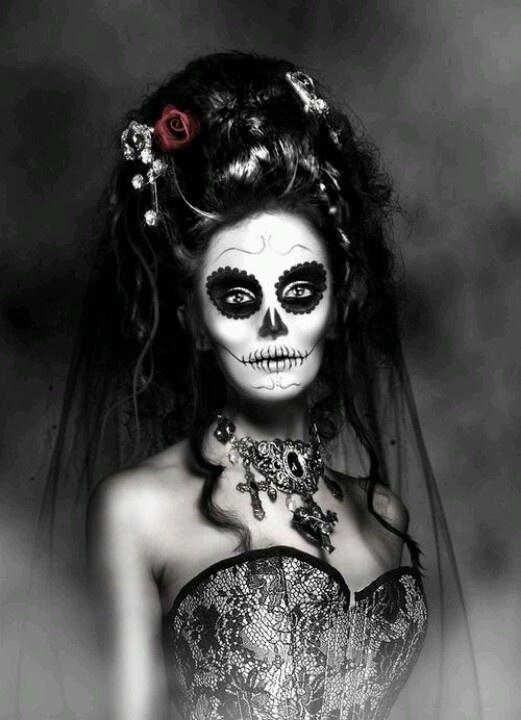 Dead Bride Makeup Pictures : Dia de Muertos Catrina makeup D?a de los Muertos Catrina ...