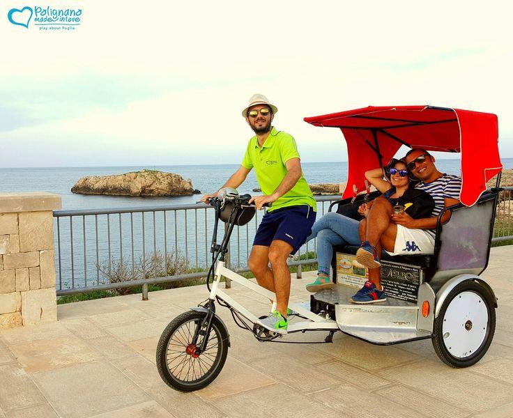 Visit the most beautiful place of Polignano aboard our rickshaw!!  https://www.instagram.com/p/BGWrLtDgx29/  #polignanomadeinlove #ilovepolignanoamare #ilovebike #bike #velo #rickshaw #holiday #tourism #visitpuglia #sipuglia #WeAreInPuglia #polignanolovers