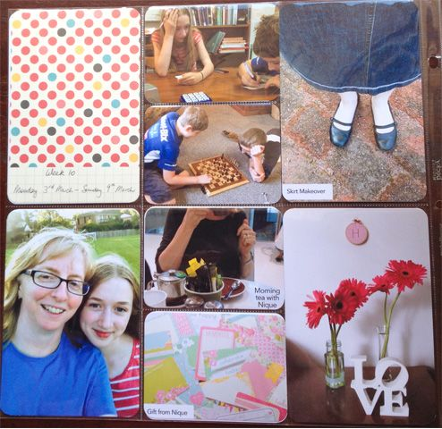 Quick and easy, simple Project Life pages