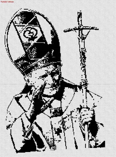 El papa en punto cruz