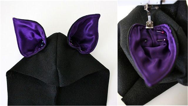 great home made bat halloween costume - Bat ears for Halloween costume