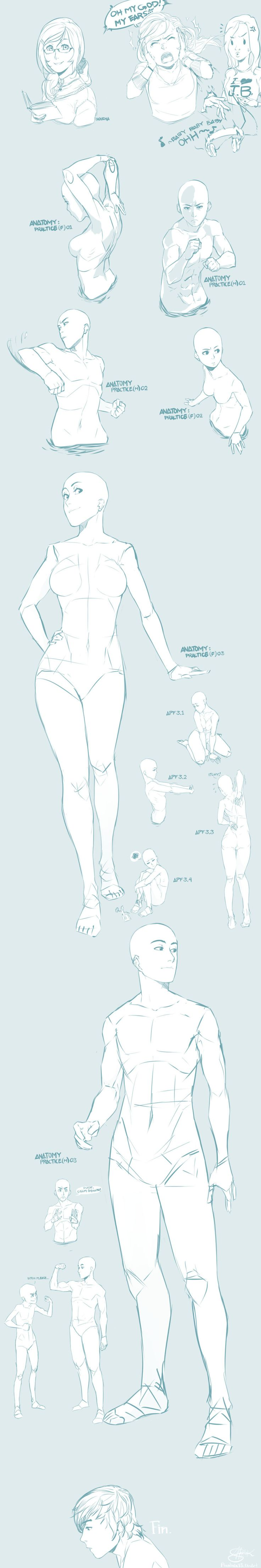 Novena and some Anatomy Practice by finalmix13 --- Amazing! And the one in the top right corner is 100% accurate.