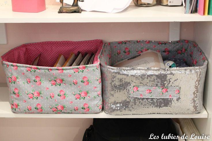 Tuto diy panier rangement en tissu les lubies de louise for Rangement tissu couture