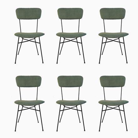 Italienische Stühle Mit Grünem Samt, 1950er, 6er Set Jetzt Bestellen Unter:  Https://moebel.ladendirekt.de/kueche Und Esszimmer/stuehle Und Hocker/ ...