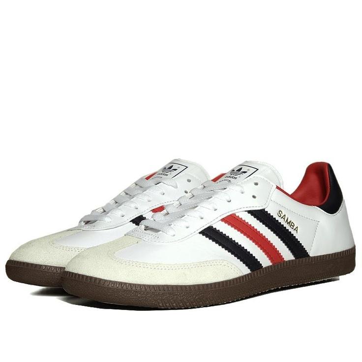 Adidas Samba (White & Dark Indigo)