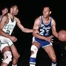 Elgin Baylor of the Los Angeles Lakers scored an NBA Finals record 61 points in Game 5 at Boston Garden as the Lakers defeated the Celtics 126-121.  Baylor's 22 field goals made set an NBA Finals record that was tied 5 years later by San Francisco's Rick Barry. Read more sports stories like this at:...Elgin Baylor of the Los Angeles Lakers scored an NBA Finals record 61 points in Game 5 at Boston Garden as the Lakers defeated the Celtics 126-121.  Baylor's 22 field goals made set an NBA…