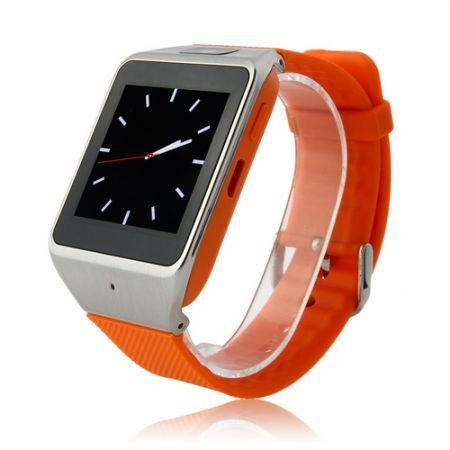 Gv08 Smart Watch Android Mobile Phone with Spy Camera Touch Screen Color Orange